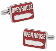 Realtor Open House Cufflinks