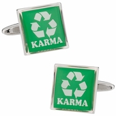 Recycling Karma Cufflinks