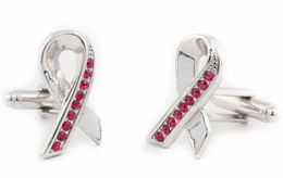 Red Aids Awareness Ribbon Cufflinks