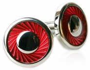 Red Swirl Cufflinks