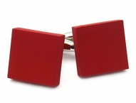 Red Modern Square Cufflinks