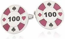 Red Poker Chip Cufflinks