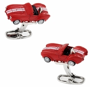 Red Race Car Cufflinks