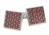 Red Tapestry Cufflinks