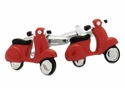 Red Vespa Scooter Cufflinks