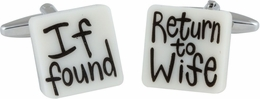 Return to Wife Cufflinks