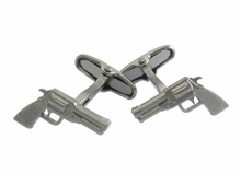 Revolver Cufflinks in Gun Metal