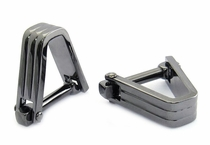 Ribbed V Cufflinks Gun Metal