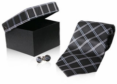 Rich Gray Plaid Tie (OUT OF STOCK)