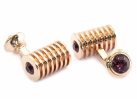 Rose Gold Amethyst Swarovski Double Cufflinks