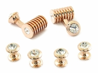 Rose Gold Clear Swarovski Barrel Formal Set