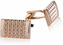 Rose Gold Weave Cufflinks