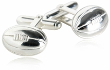 Rugby Cufflinks in Sterling Silver