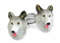Sable Collie Cufflinks