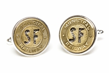 San Francisco Subway Token Cufflinks