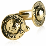 Save Our Planet Gold Cufflinks