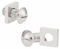 Screw and Nut Bolt Silvertone Cufflinks