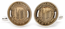 Seattle�Transit Token Cufflinks