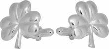 Shamrock Clover Cufflinks in Sterling Silver