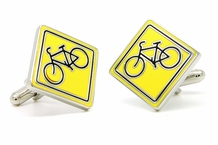 Share the Road Cycling Cufflinks