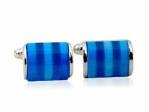 Shimmering Blue Cufflinks
