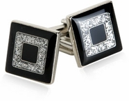 Shimmering Diamond Dust Cufflinks