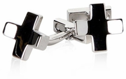 Shiny Cross Cufflinks
