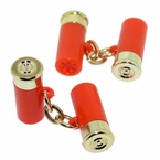 Awesome Shotgun Shell Cufflinks in Orange Color