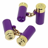 Shotgun Shell Cufflinks Purple