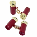 Shotgun Shell Cufflinks Red