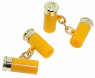 Shotgun Shell Cufflinks Yellow