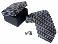 Silk Tie with Herringbone
