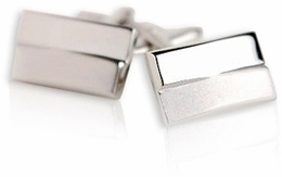 Silver Double Rectangle Cufflinks