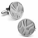 Silver Edition Yankees Cufflinks