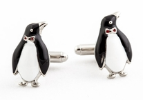 Silver Penguin Cufflinks
