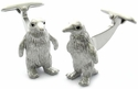 Silver Penguin Cufflinks with Swarovski Eyes