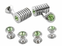 Silver Periodot Swarovski Barrel Formal Set