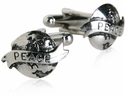 Silver World Peace Cufflinks