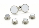 Silvertone and Mother of Pearl Formal Set