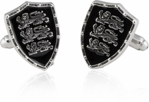 Silvertone England Three Lions Cufflinks