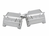 Silvertone Luxury Car Cufflinks