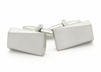 Silvertone Wedge Cufflinks