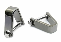 Smooth Wrap Cufflinks Gun Metal