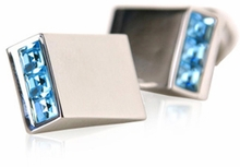 Sparkling Blue Cufflinks