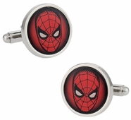 Spider-Man Silver-Tone Red Cufflinks
