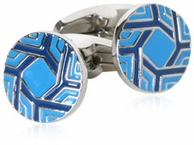 Spinning Blue Cufflinks