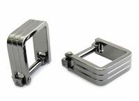 Square Wrap Gun Metal Cufflinks