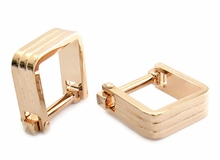 Square Wrap Rose Gold Cufflinks