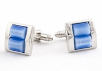 Stacked Blue Cufflinks