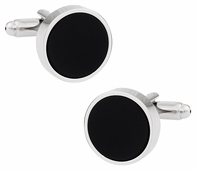 Stately Black Cufflinks